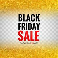 Black friday sale glitter background vector