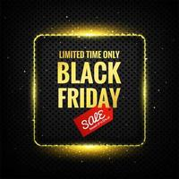 Black Friday luxury design vector