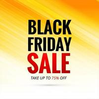 Black Friday sale text on yellow gradient background