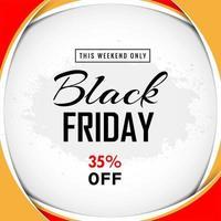 Black Friday 3d frame sale design vector