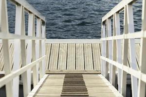 landing stage at the ocean photo