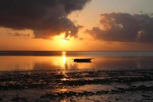 Sun rise in ocean paradise photo