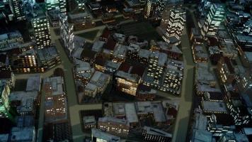 Stadt Morgenflug