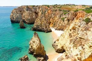 Ocean with rocky cliffs