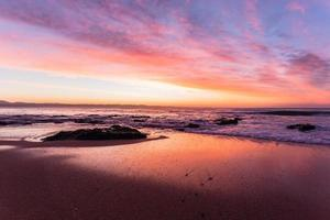 Beach Ocean Dawn Colors