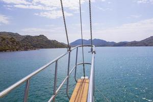 In a sailing yacht