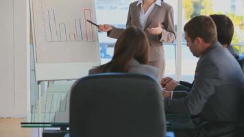 empresários tendo uma reunião