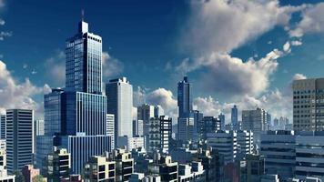 nuvole diurne sopra l'orizzonte astratto della grande città