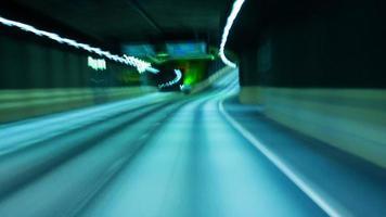 conducción nocturna urbana ciudad carretera video