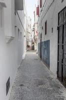 Streets and corners of Tangier in Morocco