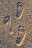 Footprint on the sand photo
