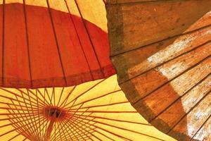 Enfoque selectivo de la estructura del paraguas foto