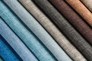 muestras de textura de tela multicolor