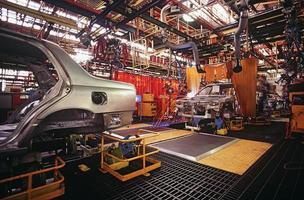 planta de fabricación de automóviles foto