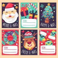 Cute Christmas Gift Card vector