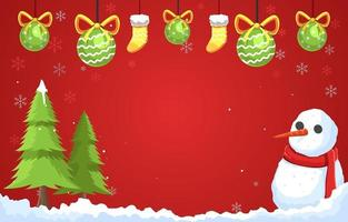 Wonderful Christmas With Mr Snowman vector