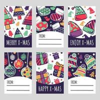 tarjeta de regalo de navidad festiva vector
