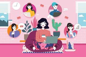 trabajar desde casa ilustración vector