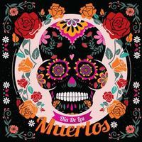 Dia De Los Muertos Sugar Skull Illustration