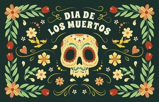 Dia De Los Muertos Colourful Background