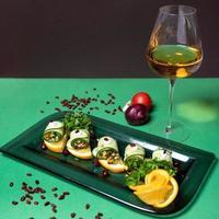 guarnición de verduras de limón