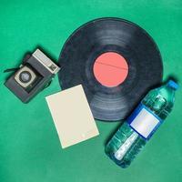 cámara de grabación y retro