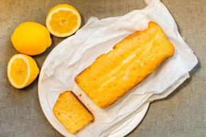 gâteau au citron frais photo