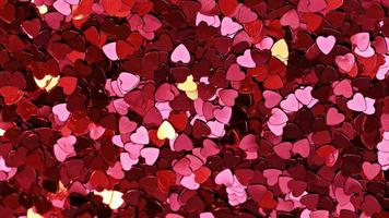 Wallpaper with red hearts photo