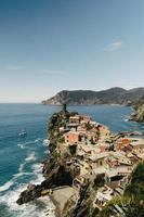 Aerial view of the town of Vernazza