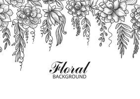 Ornamental Decorative Floral Sketch Background