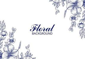 Wedding Floral Card Background
