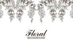 Hand Drawn Decorative floral Sketch Background