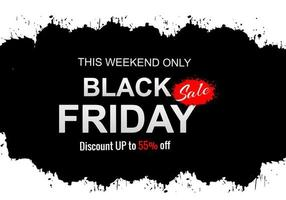 Black Friday sale with grunge background vector
