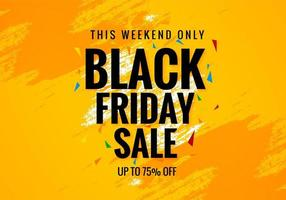 Black Friday Weekend Sale Poster Banner Background