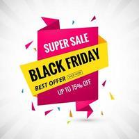 fondo de banner de venta de promoción de viernes negro