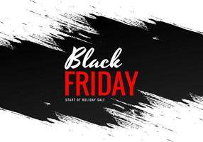 Black Friday with brush banner design vector
