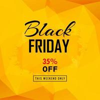 Black Friday sale poster with polygonal background vector