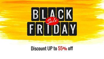 Modern Black Friday brush stroke banner design