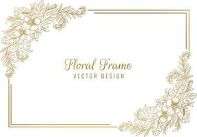 Artistic Sketch Floral Frame Background