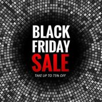 Modern Black Friday sale with mosaic background