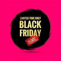 Black Friday Sale Poster on a Hand Painted Splash Brush Background