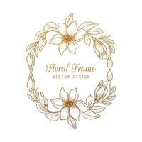 Ornamental Decorative Floral Frame Design