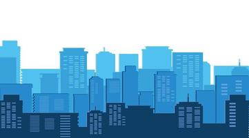 escena del día de los edificios del paisaje urbano