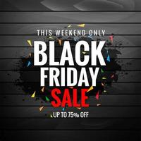 Black Friday Sale for Texture Banner Layout Background