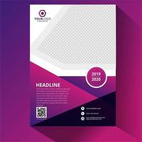 Cool Purple Corporate template design