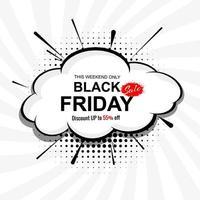 Fondo de banner de concepto de venta de viernes negro abstracto