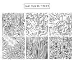 Abstract Hand Drawn Pattern Set Design vector