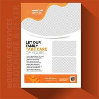 Home Care brochure cards set.  vector