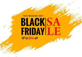 Black Friday Exclusive Sale Poster for Brush Banner Design