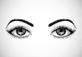 Hand Drawn Sketched Eyes vector